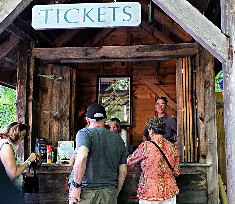 Ticket booth at Maverick Concerts